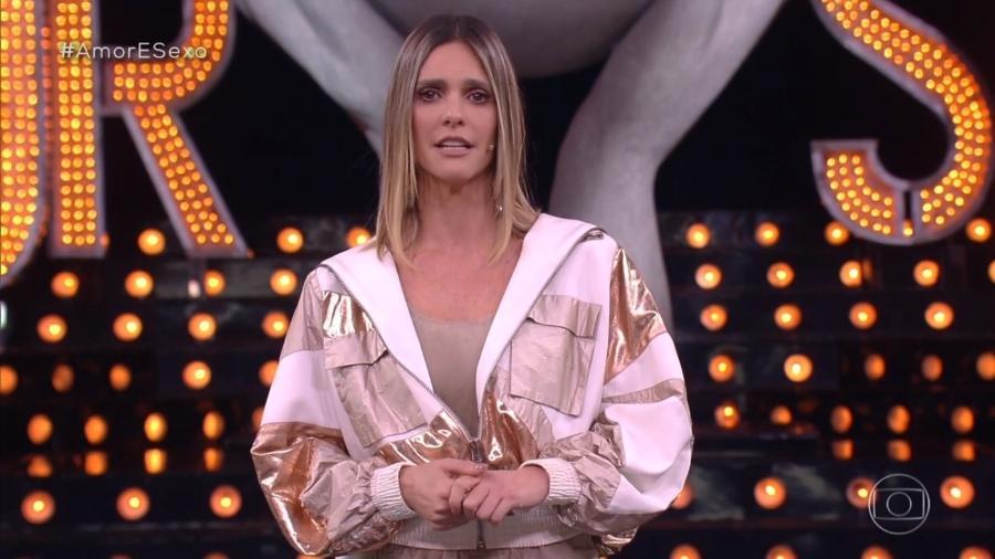 """A apresentadora Fernanda Lima no programa """"Amor & Sexo"""" - Reprodução/TV Globo"""