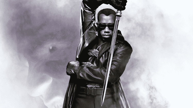 """O ator Wesley Snipes em pôster de """"Blade"""" - Reprodução - Reprodução"""