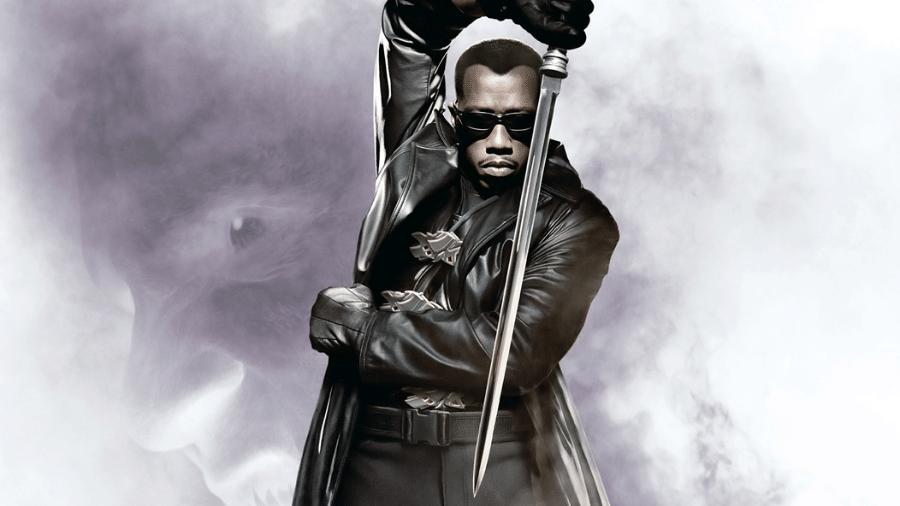 O ator Wesley Snipes em pôster de Blade - Reprodução
