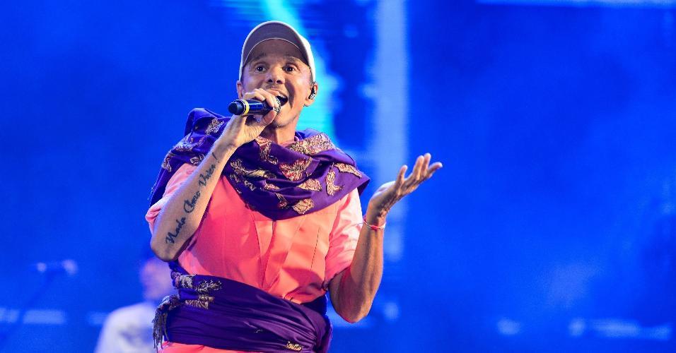 """No repertório do show, Netinho lembrou clássicos de sua carreira, desde o seu início na banda Beijo, como """"Preciso de Você"""", """"Milla"""", """"Jeito Diferente"""", """"Total"""", """"Capricho dos Deuses"""", """"Estrela Primeira"""", entre outros hits"""