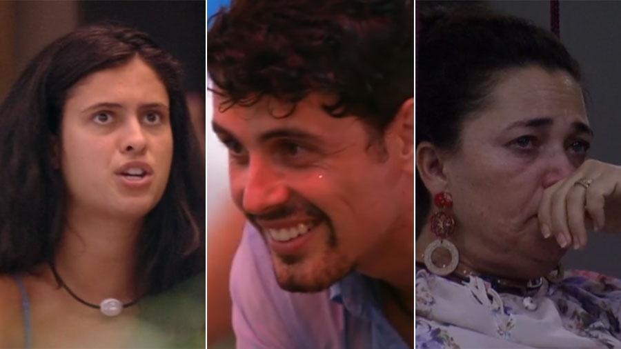 """Hana, Maycon e Tereza do """"BBB19"""" - Reprodução/TV Globo"""