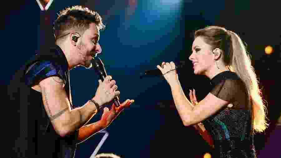 Sandy e Junior se apresentaram em Recife na sexta-feira (12) - Manuela Scarpa/Brazil News