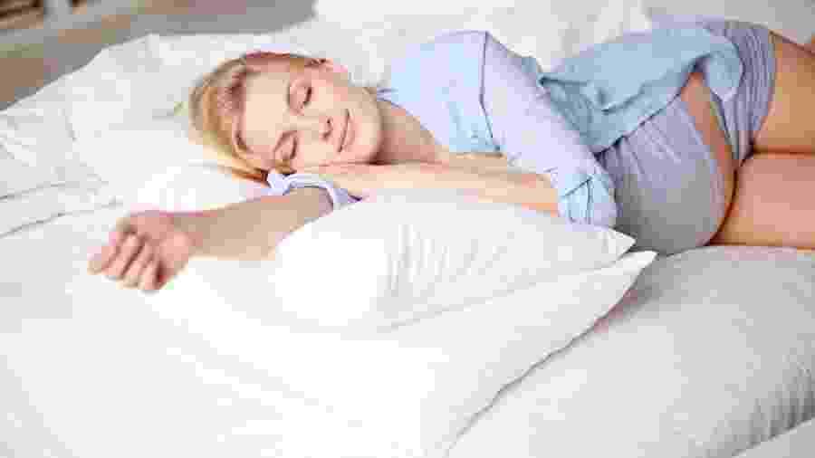 Enquanto a mulher se prepara para dar à luz, o inconsciente vem à tona - Getty Images/iStockphoto