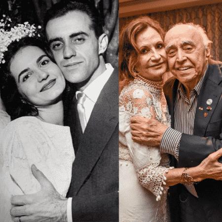 Rosamaria Murtinho e Mauro Mendonça repetem foto do dia do casamento - Reprodução/Instagram