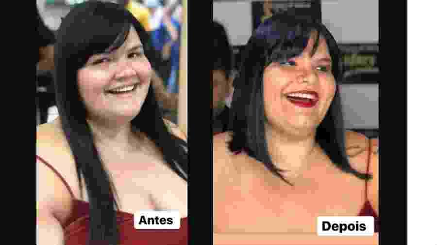 Thais Carla antes e depois de mudar o visual - Reprodução/Instagram