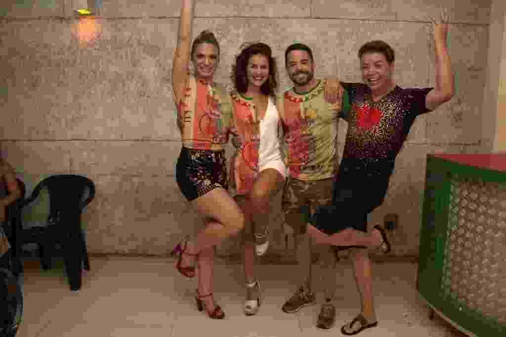 Glamour Garcia, Paloma Bernardi, Pedro Sampaio e David Brazil no ensaio da Grande Rio - AgNews