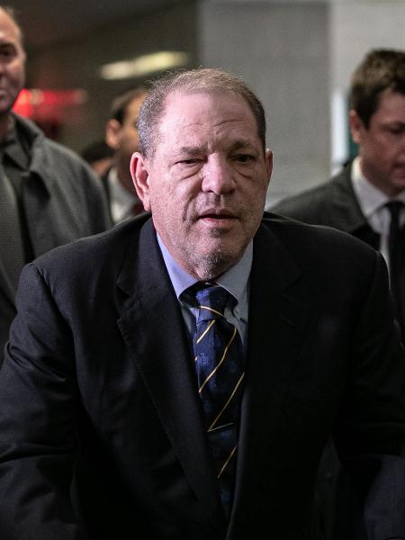 Harvey Weinstein no tribunal de Nova York, dia 24 de janeiro - Jeenah Moon/Getty Images/AFP