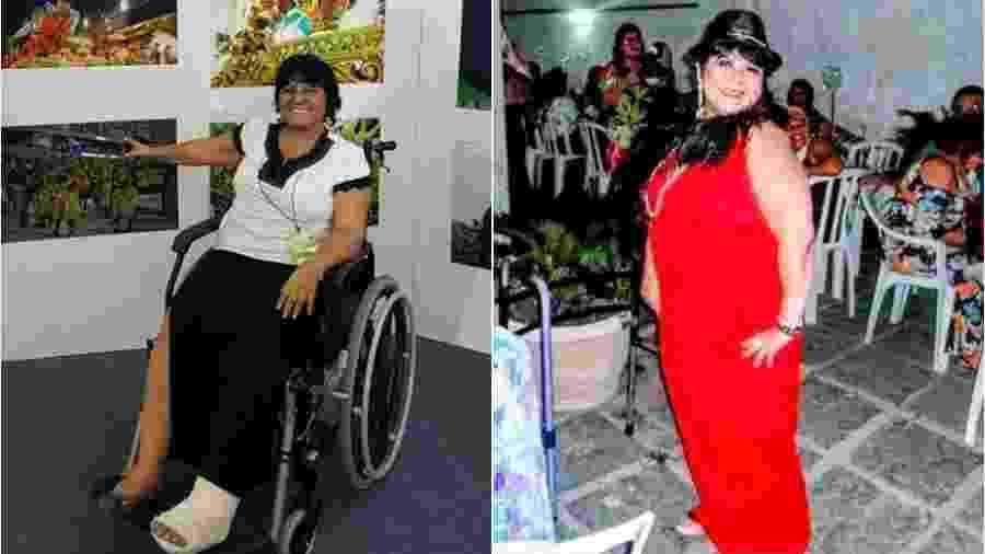 Vítima de acidente com alegoria na Sapucaí volta a andar após três anos - Montagem de fotos de arquivo pessoal