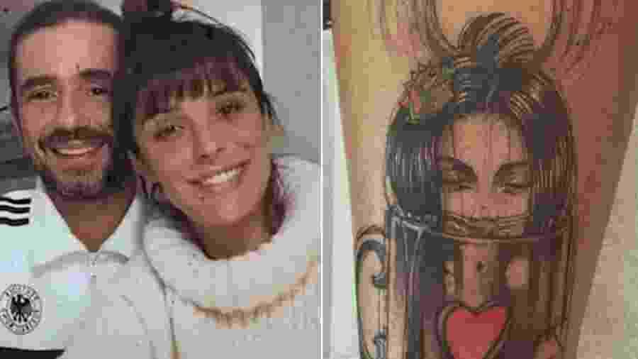 Felipe Andreoli fez tatuagem para Rafa Brites - Reprodução/Instagram