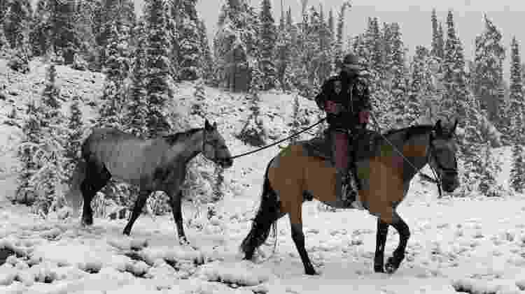 cavaleiro das américas - Na terra do fogo, no extremo sul da Argentina, cavalgada a temperaturas abaixo de zero - Arquivo pessoal - Arquivo pessoal