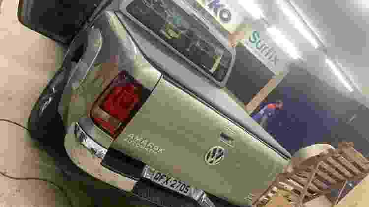 VW Amarok reformada após riscos de menina - Arquivo Pessoal - Arquivo Pessoal
