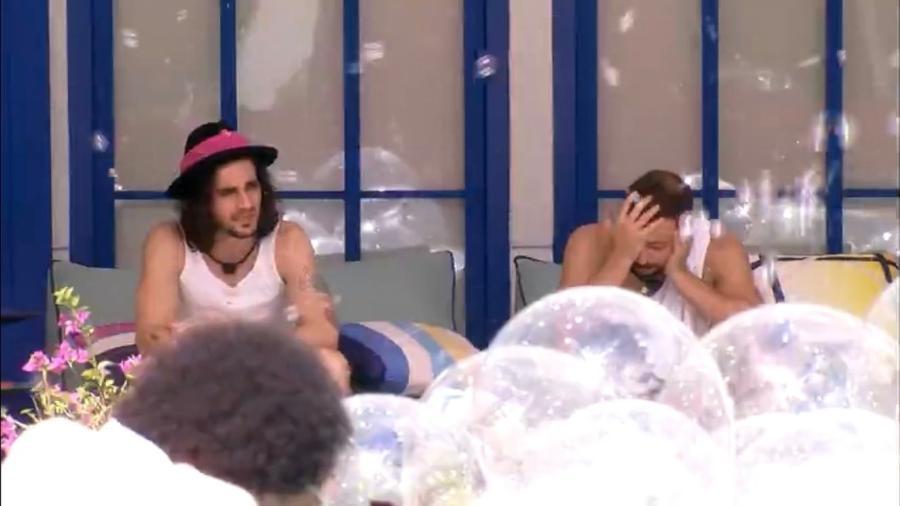 BBB 21: Fiuk desabafa com Caio sobre paredão - Reprodução/Globoplay