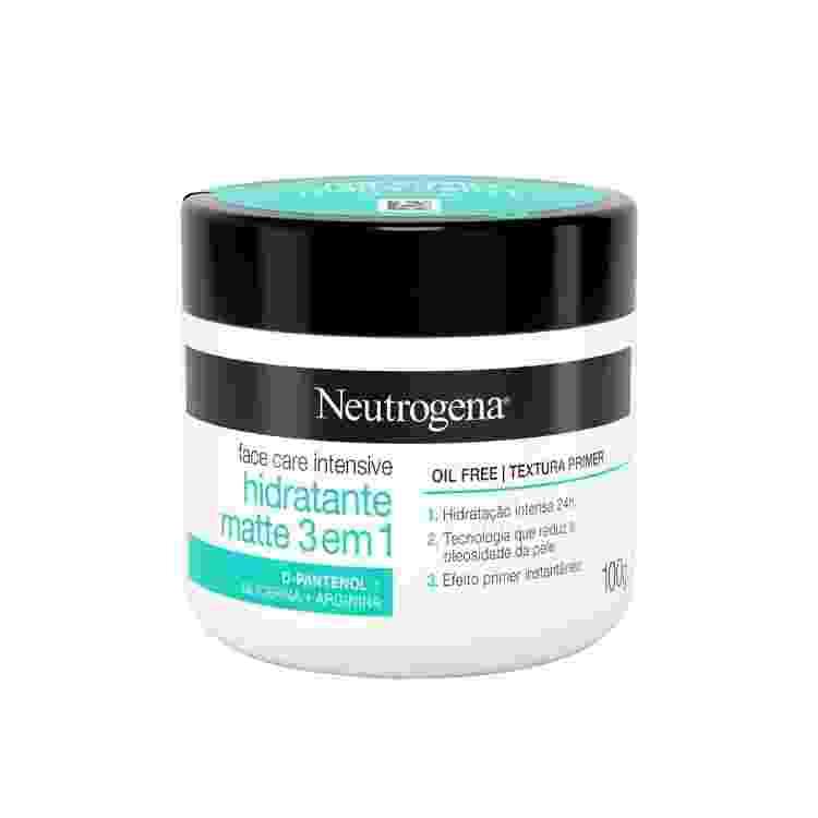 Hidratante facial Intensive Matte 3 em 1, Neutrogena. R$ 34,90 - Divulgação - Divulgação