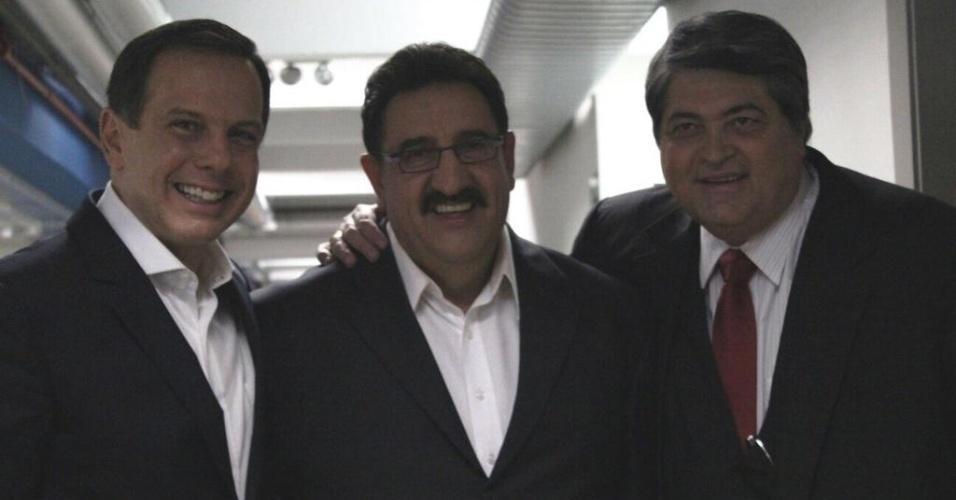 Ratinho media o primeiro encontro entre Datena e João Dória Jr