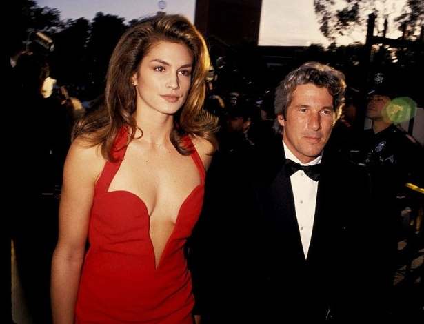 Cindy Crawford e Richard Gere, em 1995 - Ron Galella / WireImage