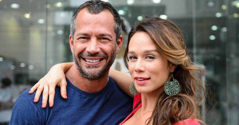 Malvino Salvador (Apolo) e Mariana Ximenes (Tancinha) nos bastidores de