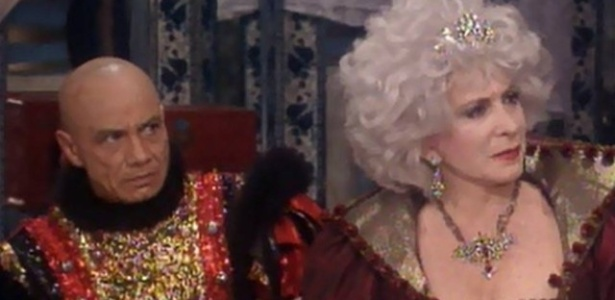 """Stenio Garcia e Tereza Rachel em """"Que Rei Sou Eu"""", de 1989 - Reprodução/TV Globo"""