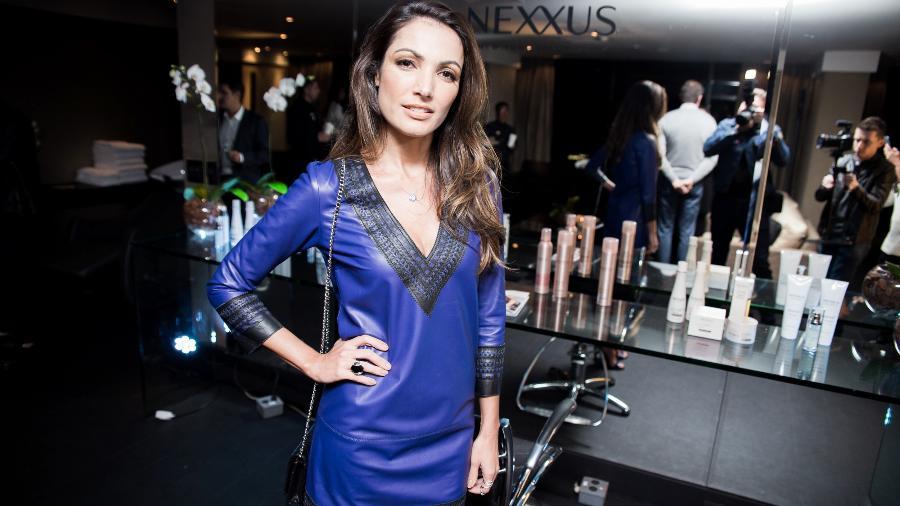 Patricia Poeta no lançamento da marca de produtos para cabelo Nexxus - Divulgação/Hick Duarte