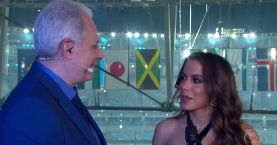 5.ago.2016 - Anitta fala sobre a emoção da cantar na cerimônia de abertura da Olimpíada do Rio