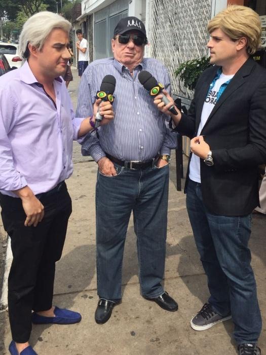 """Raul Gil dá entrevista para o """"Pânico"""", daBand"""