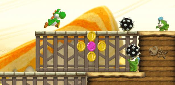 """Além de Mario, o jogador controla Yoshi e outros personagens em """"Super Mario Run"""" - Divulgação"""