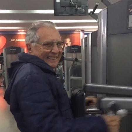 Carlos Alberto de Nóbrega publica vídeo treinando em academia - Reprodução/Instagram/calbertonobrega