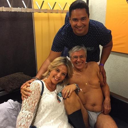 Carla Perez e Xanddy em foto com Caetano Veloso - Reprodução/Instagram