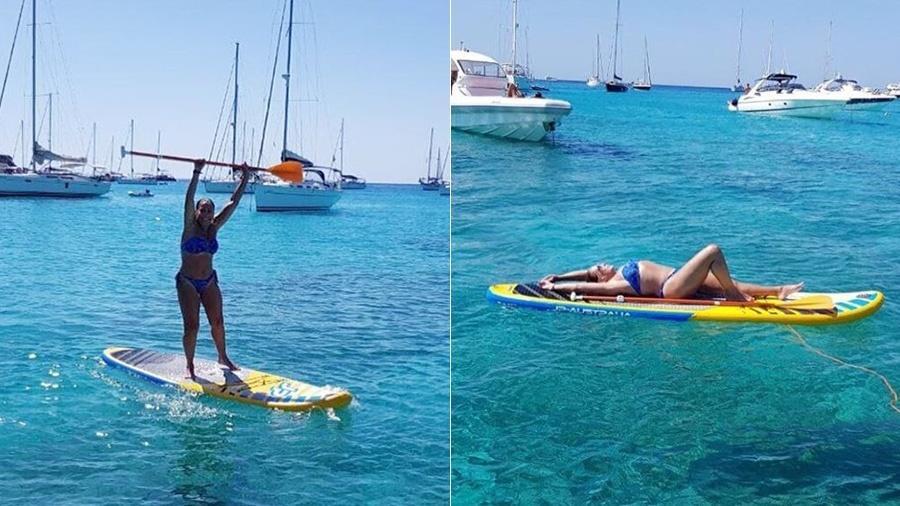 Aos 75 anos, Susana Vieira aprende stand up paddle em Ibiza - Reprodução/Instagram Susana Vieira