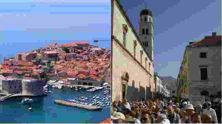 Montagem Dubrovnik - Gari.baldi/Creative Commons - Amanderson2/VisualHunt CC BY - Gari.baldi/Creative Commons - Amanderson2/VisualHunt CC BY