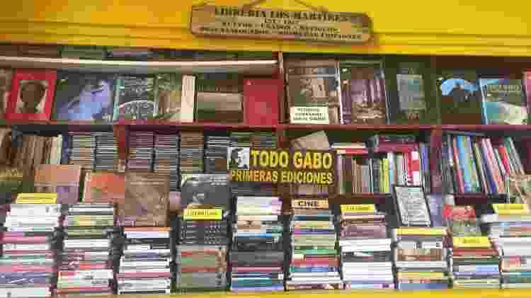 Nas ruas de Cartagena, uma banca vende todos os livros de Gabriel Garcia Marquez - Felipe Branco Cruz/UOL - Felipe Branco Cruz/UOL