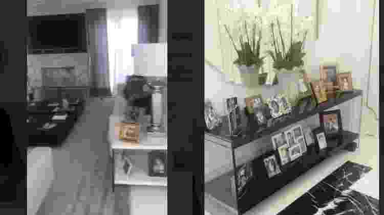 Graciele Lacerda mostra detalhes da decoração, com muitas fotos espalhadas pela casa - Reprodução/Instagram - Reprodução/Instagram