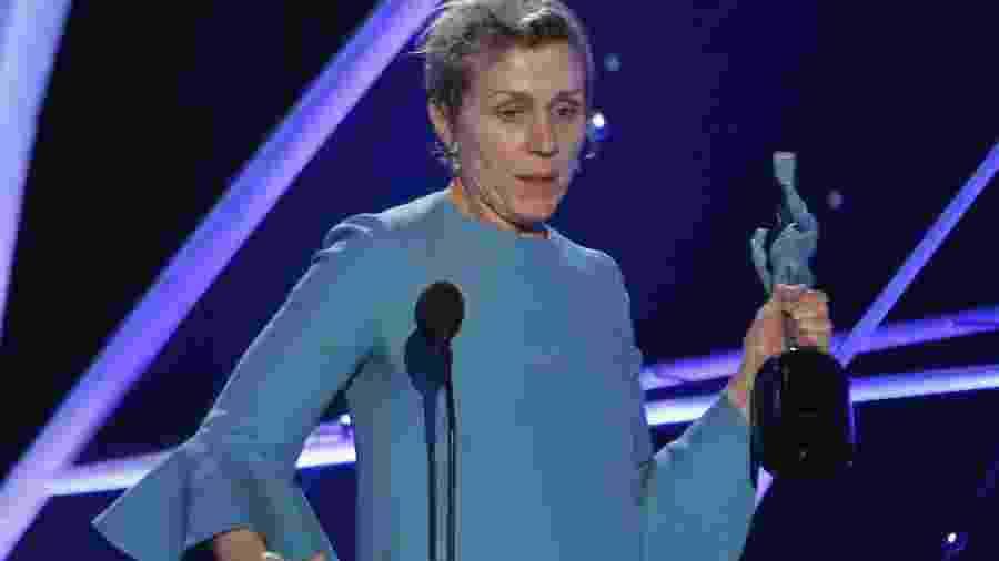 """Frances McDormand vence o SAG Awards em 2018, por """"Três Anúncios Para Um Crime"""" - REUTERS/Mario Anzuoni"""