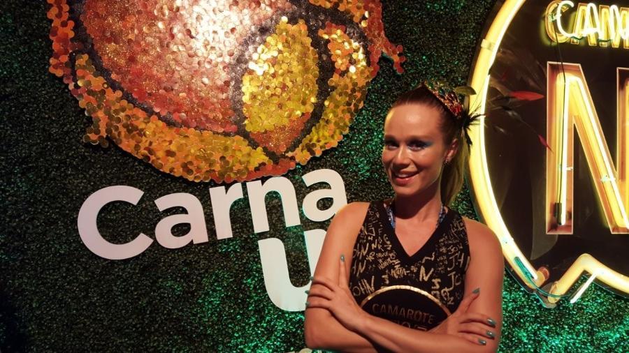 Mariana Ximenes curte o Camarote CarnaUOL RJ/N1 antes de estrear na Sapucaí - Tereza Novaes/UOL