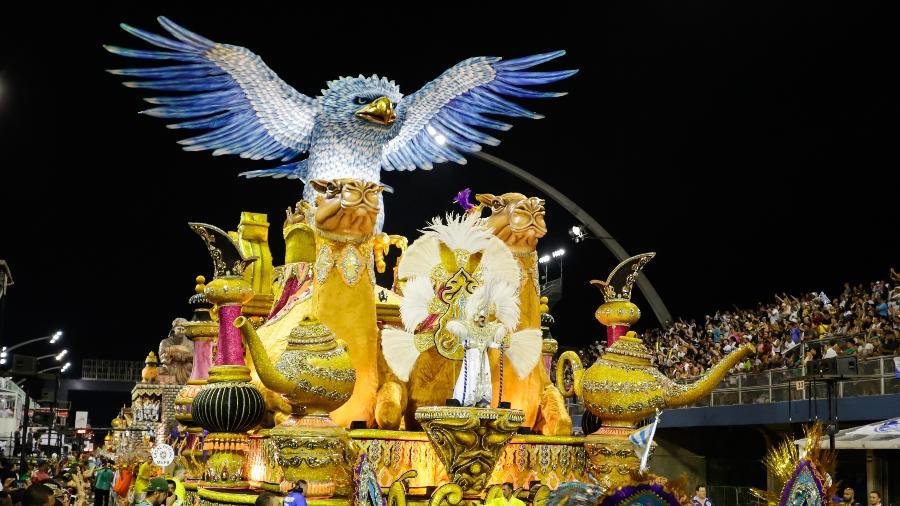 Águia de Ouro foi a vitoriosa do Grupo de Acesso, conquistando lugar no Grupo Especial do Carnaval de SP de 2019 - Alice Vergueiro/Folhapress