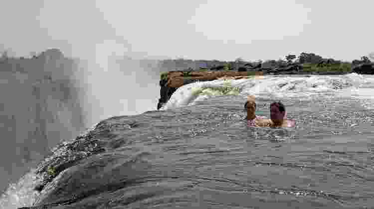 A Devil's Pool fica na região das cataratas Victoria Falls, na Zâmbia - Ian Restall/Creative Commons - Ian Restall/Creative Commons