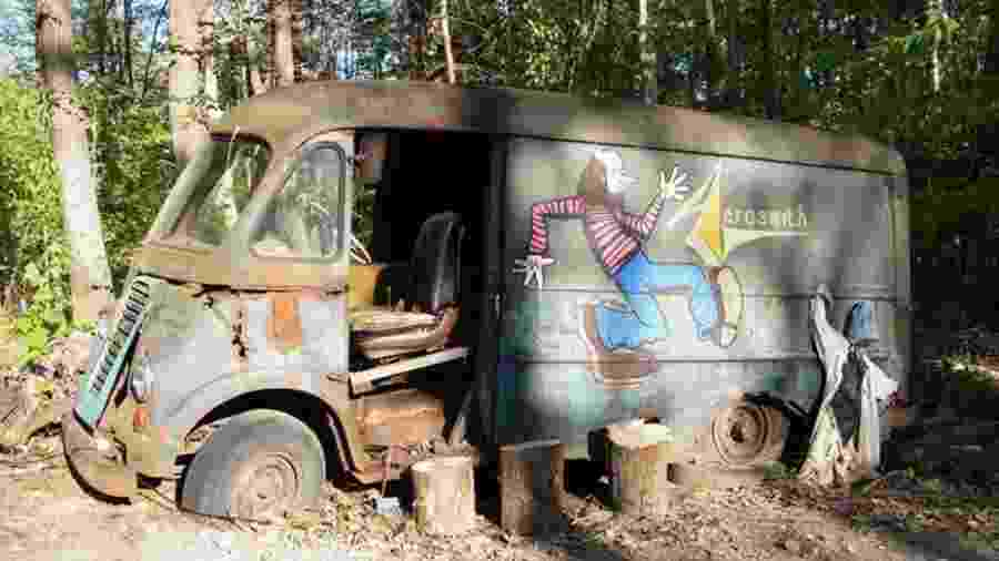 Van usada pelo Aerosmith nos primeiros anos de estrada -