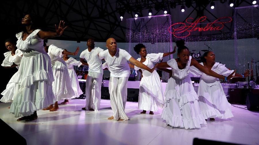 Fãs dão adeus a Aretha Franklin em concerto gratuito em Detroit - REUTERS/Leah Millis