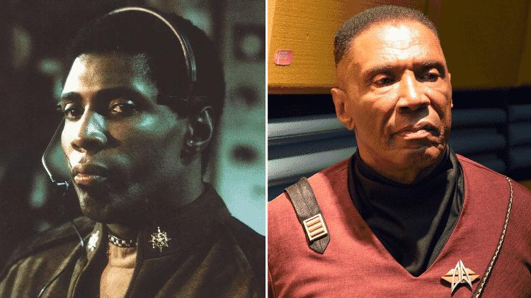 Antes e depois de Herb Jefferson Jr, o Boomer de ?Battlestar Galactica? - Reprodução/Montagem - Reprodução/Montagem