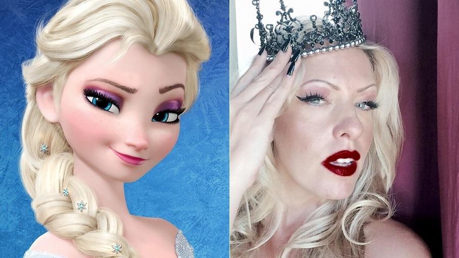 """A atriz e cantora e Taryn Szpilman, dubladora de Elsa em """"Frozen"""" e intérprete de """"Livre Estou"""" - Montagem/Reprodução/Facebook"""