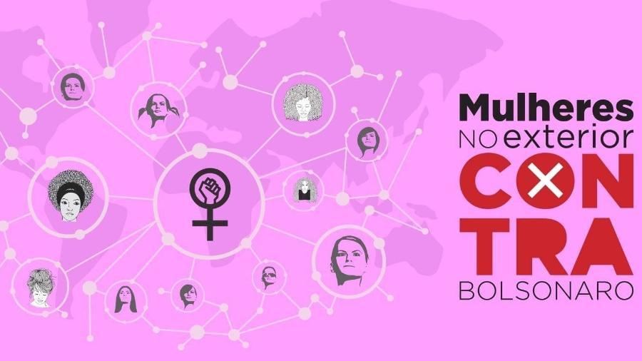 Mulheres no Exterior Contra Bolsonaro - Reprodução