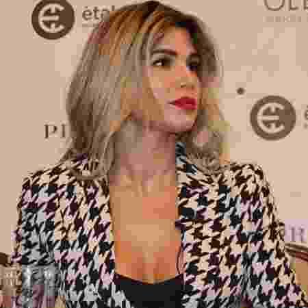 Dani Souza durante lançamento de aplicativo de moda na Ucrânia nesta segunda-feira (8) - Divulgação