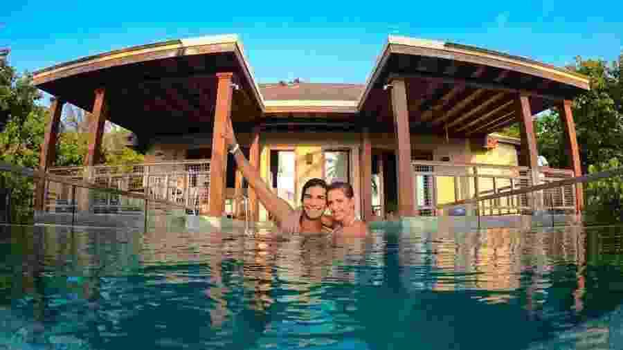 Hugo Moura e Deborah Secco em hotel nas Maldivas - Reprodução/Instagram