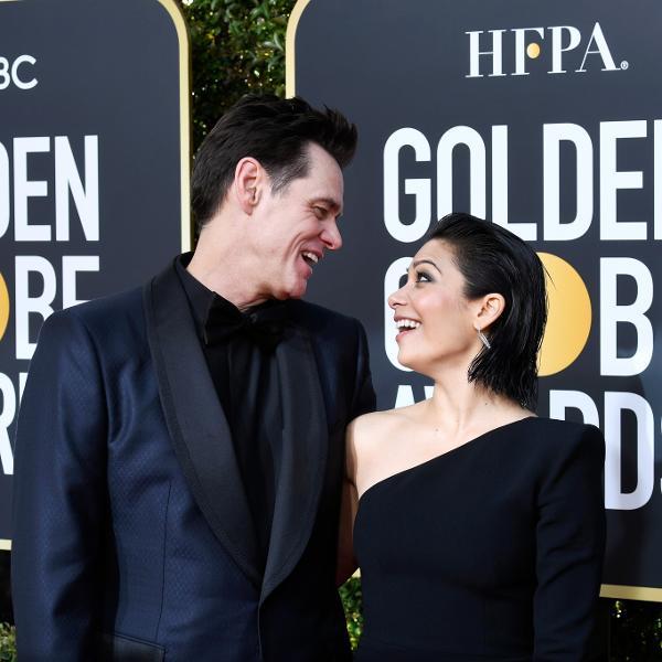 Jim Carrey e Ginger Gonzaga no Globo de Ouro de 2019