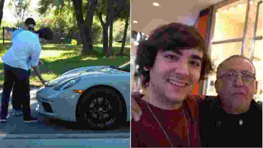 Luca Bueno ostenta carrão e vai às compras com o pai, Galvão Bueno - Reprodução/YouTube