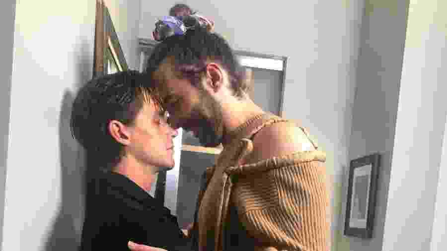 Antoni Porowski, do Queer Eye, com Jonathan - Reprodução/Instagram