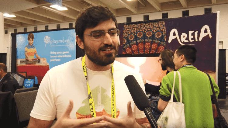 """O game designer Marcelo Spiezzi Raimbault é um dos idealizadores de """"Areia"""" - Reprodução"""