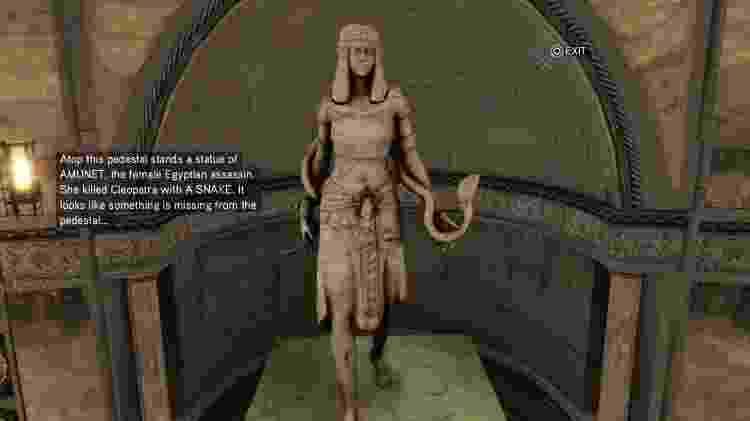 Assassin's Creed estátua de Amunet em AC 2 - Reprodução - Reprodução