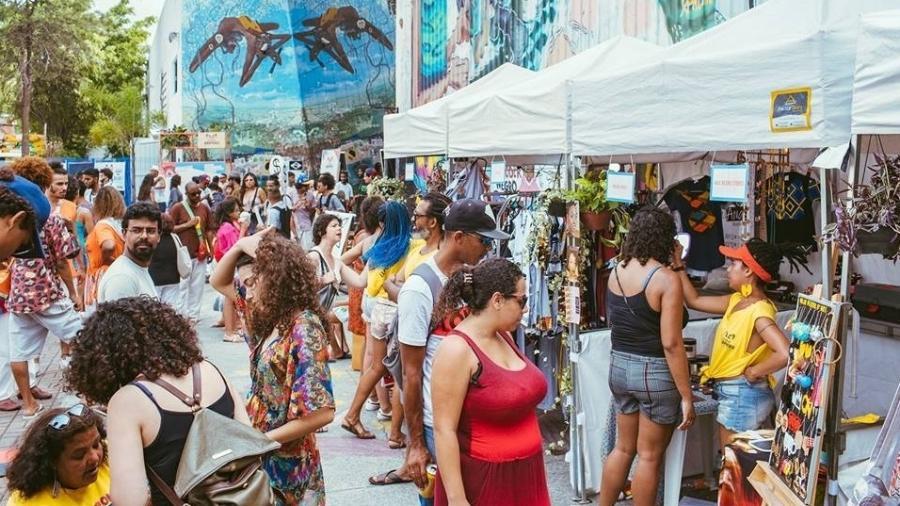 Rede Nóis por Nóis durante o Festival Amaphiko, na zona sul de São Paulo - Cortesia Nóis por Nóis