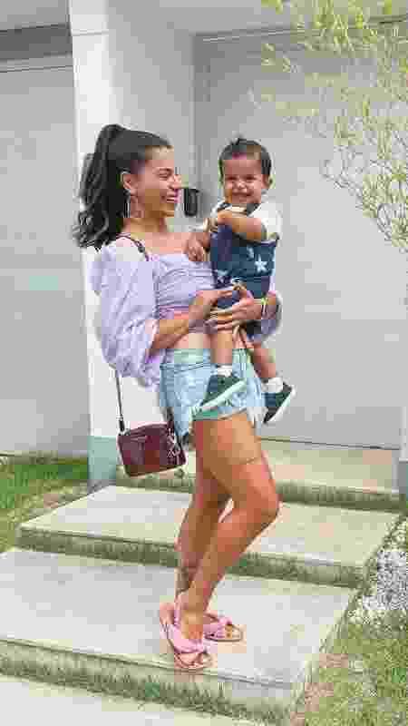 Evelyn Regly e o filho Lucas - Reprodução/Instagram - Reprodução/Instagram