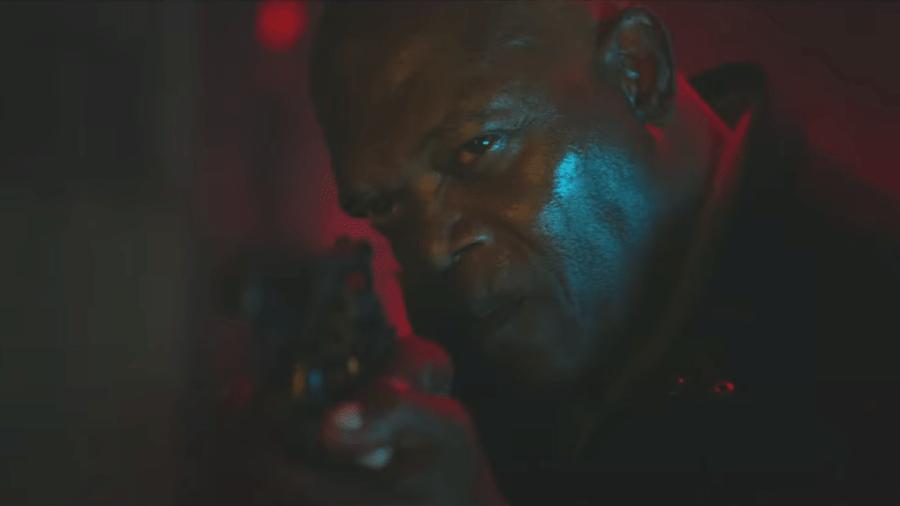 """Samuel L. Jackson em """"Espiral: O Legado de Jogos Mortais"""" - Reprodução/YouTube"""